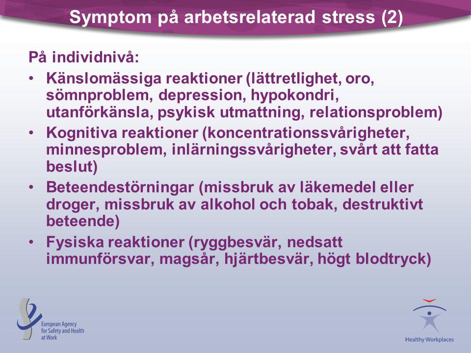 Symptom på arbetsrelaterad stress (2)