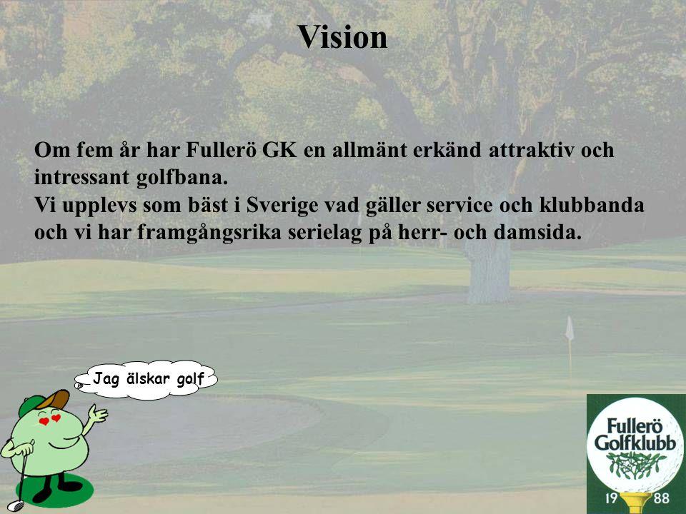 Vision Om fem år har Fullerö GK en allmänt erkänd attraktiv och