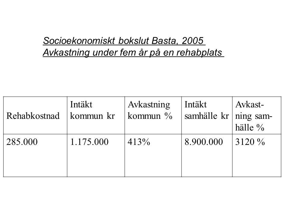 Socioekonomiskt bokslut Basta, 2005