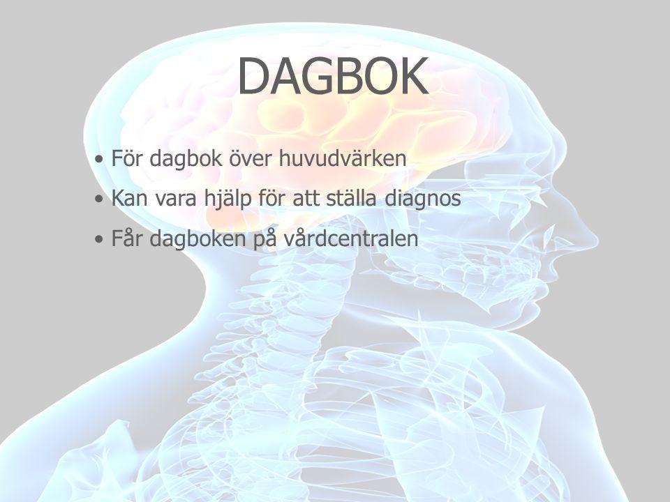 DAGBOK För dagbok över huvudvärken