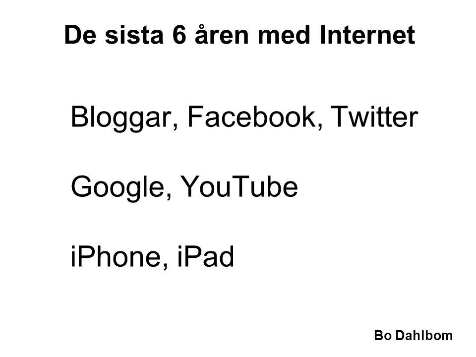 De sista 6 åren med Internet