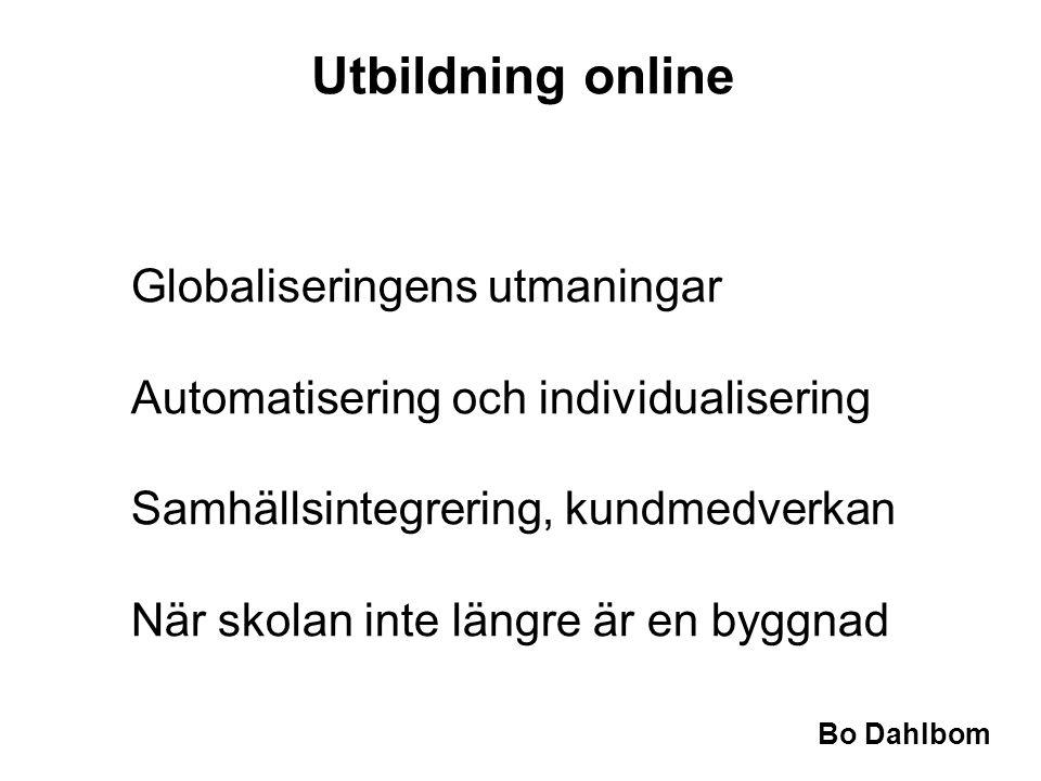 Utbildning online Globaliseringens utmaningar