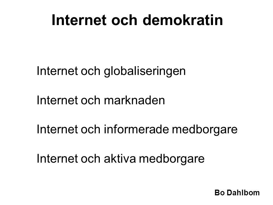 Internet och demokratin