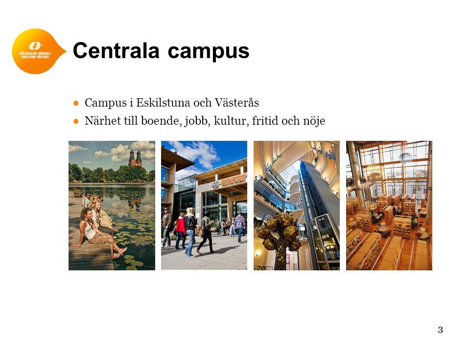 Centrala campus Campus i Eskilstuna och Västerås