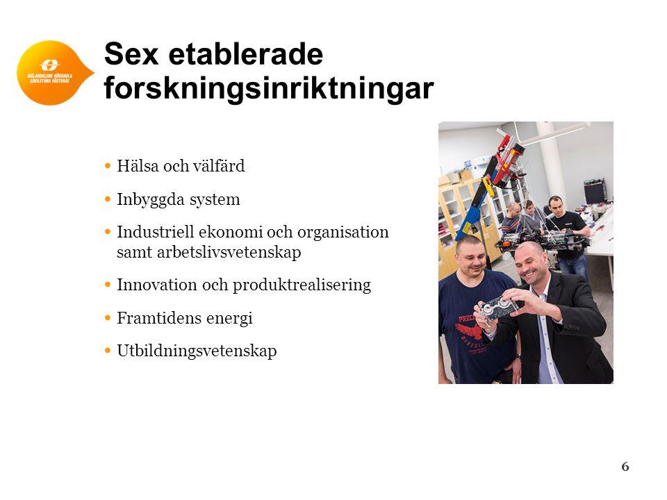 Sex etablerade forskningsinriktningar
