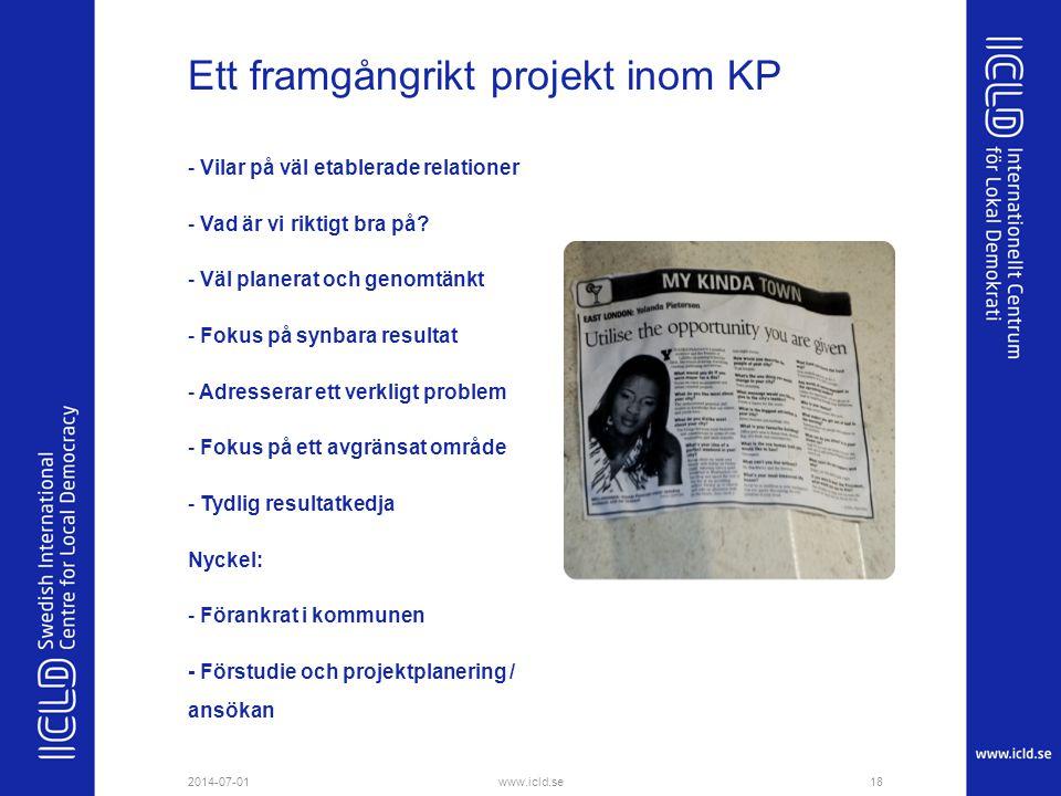 Ett framgångrikt projekt inom KP