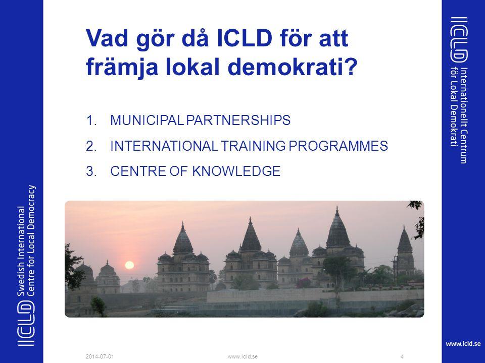 Vad gör då ICLD för att främja lokal demokrati