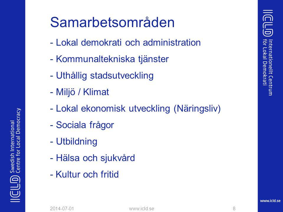 Samarbetsområden Lokal demokrati och administration