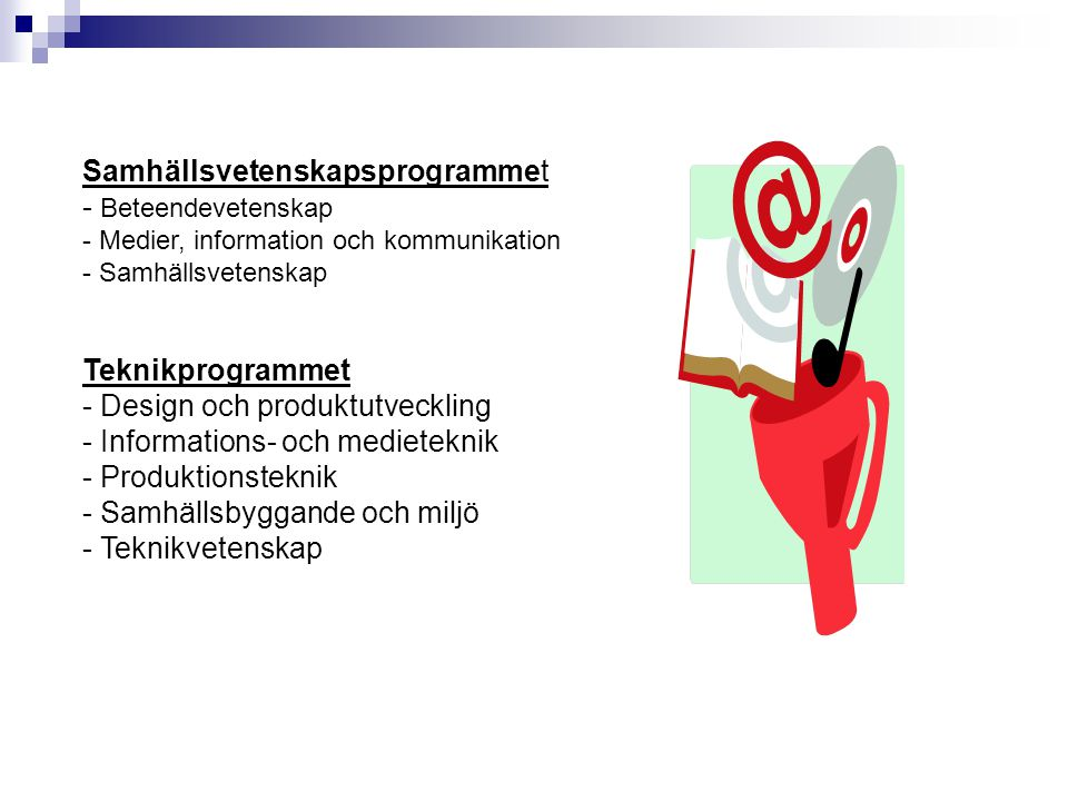 Samhällsvetenskapsprogrammet - Beteendevetenskap