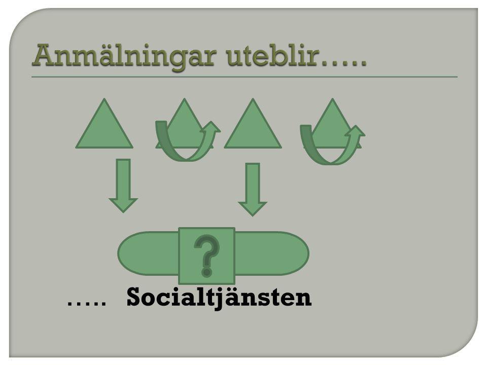 Anmälningar uteblir….. ….. Socialtjänsten