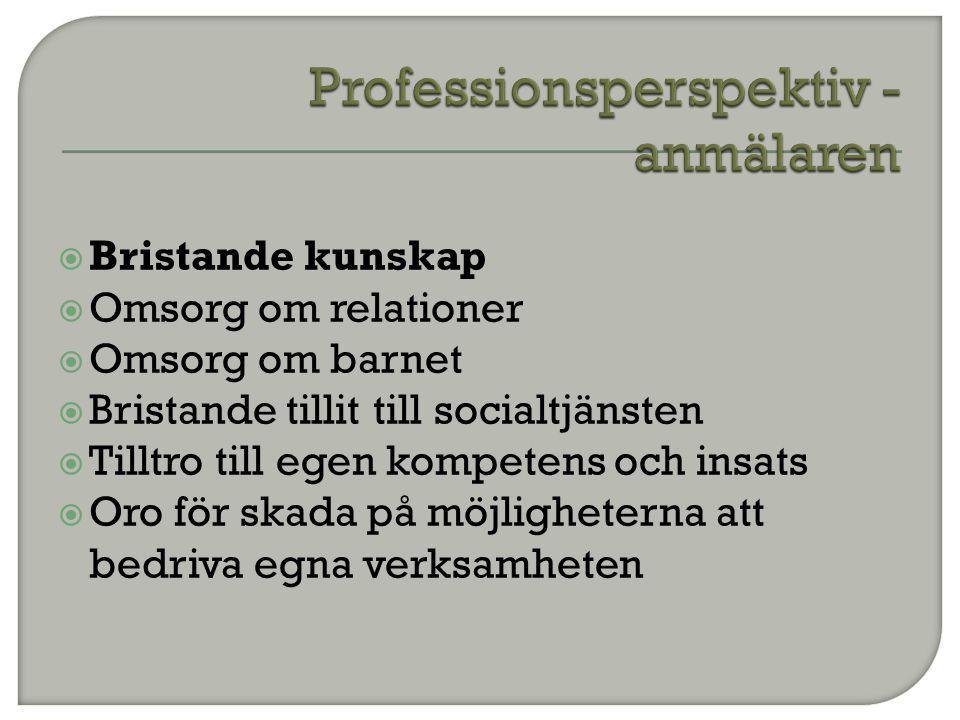Professionsperspektiv - anmälaren