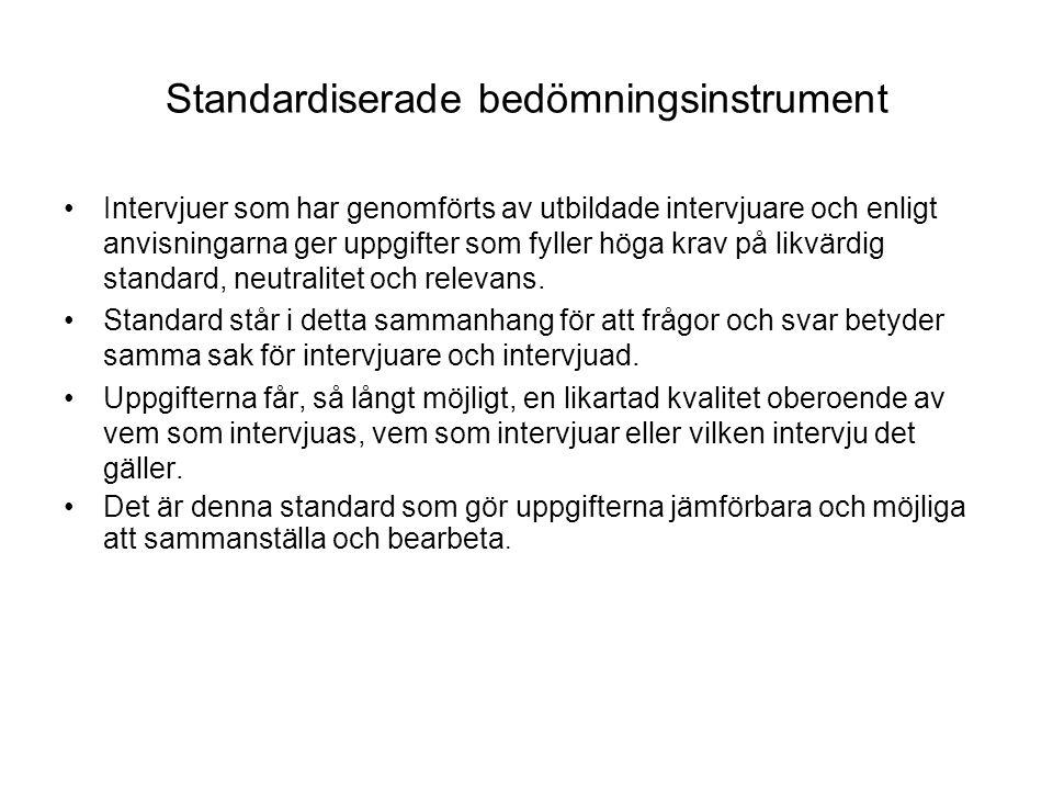 Standardiserade bedömningsinstrument