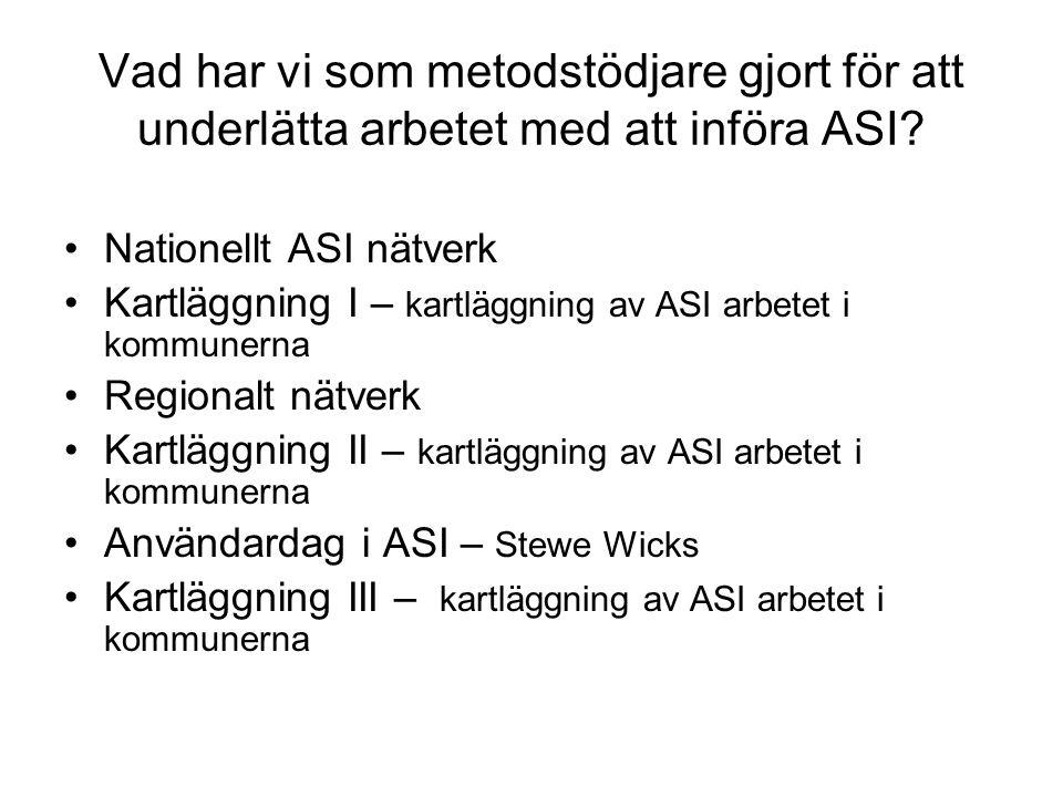 Vad har vi som metodstödjare gjort för att underlätta arbetet med att införa ASI