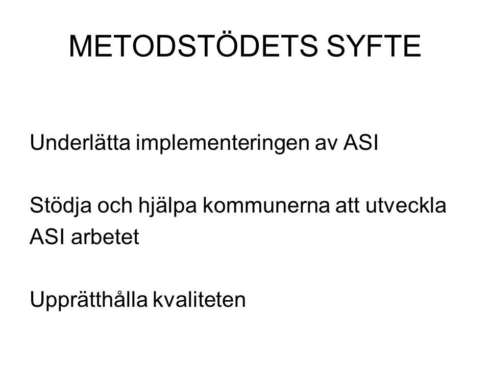 METODSTÖDETS SYFTE Underlätta implementeringen av ASI