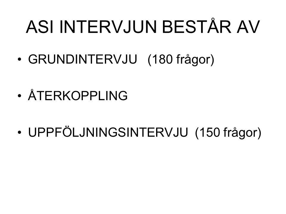 ASI INTERVJUN BESTÅR AV