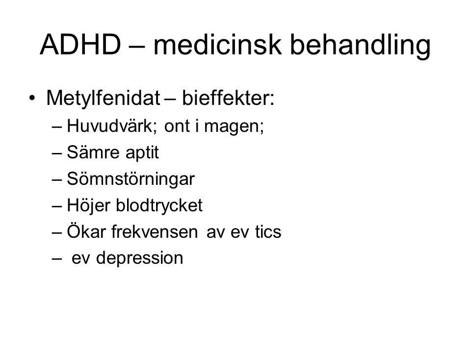 ADHD – medicinsk behandling