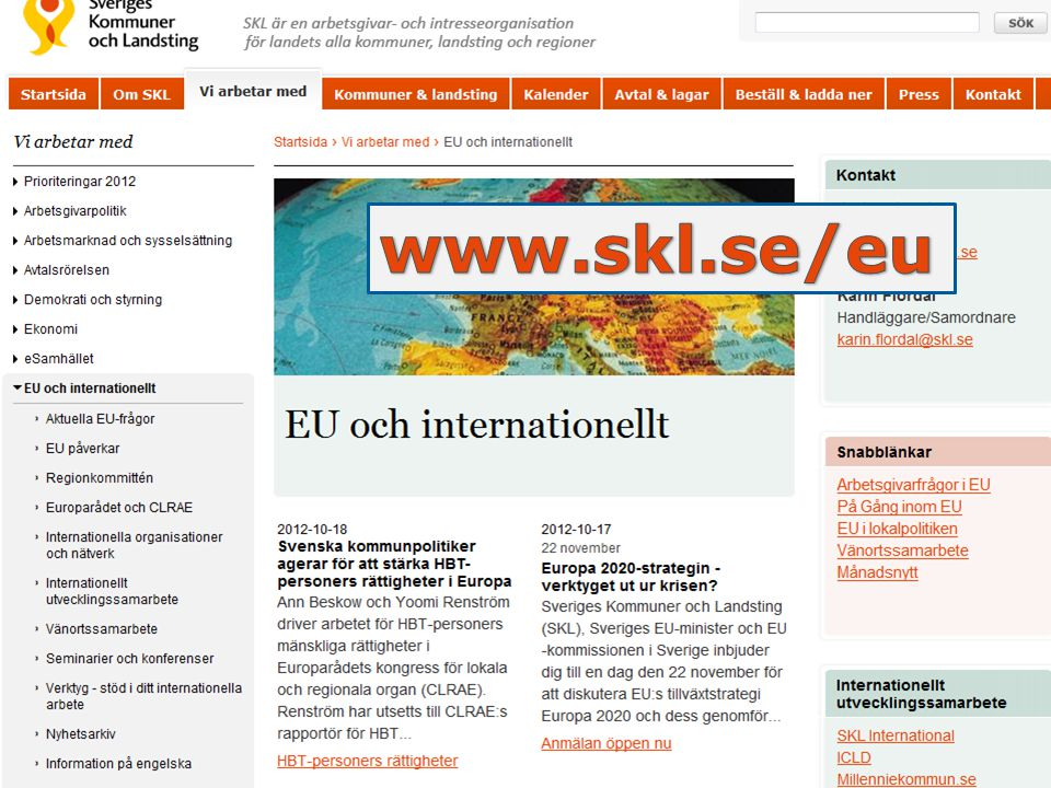 www.skl.se/eu www.skl.se/EU