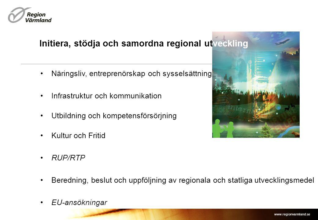 Initiera, stödja och samordna regional utveckling