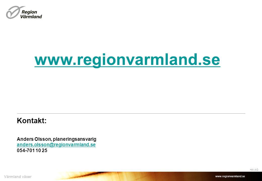 www.regionvarmland.se Kontakt: