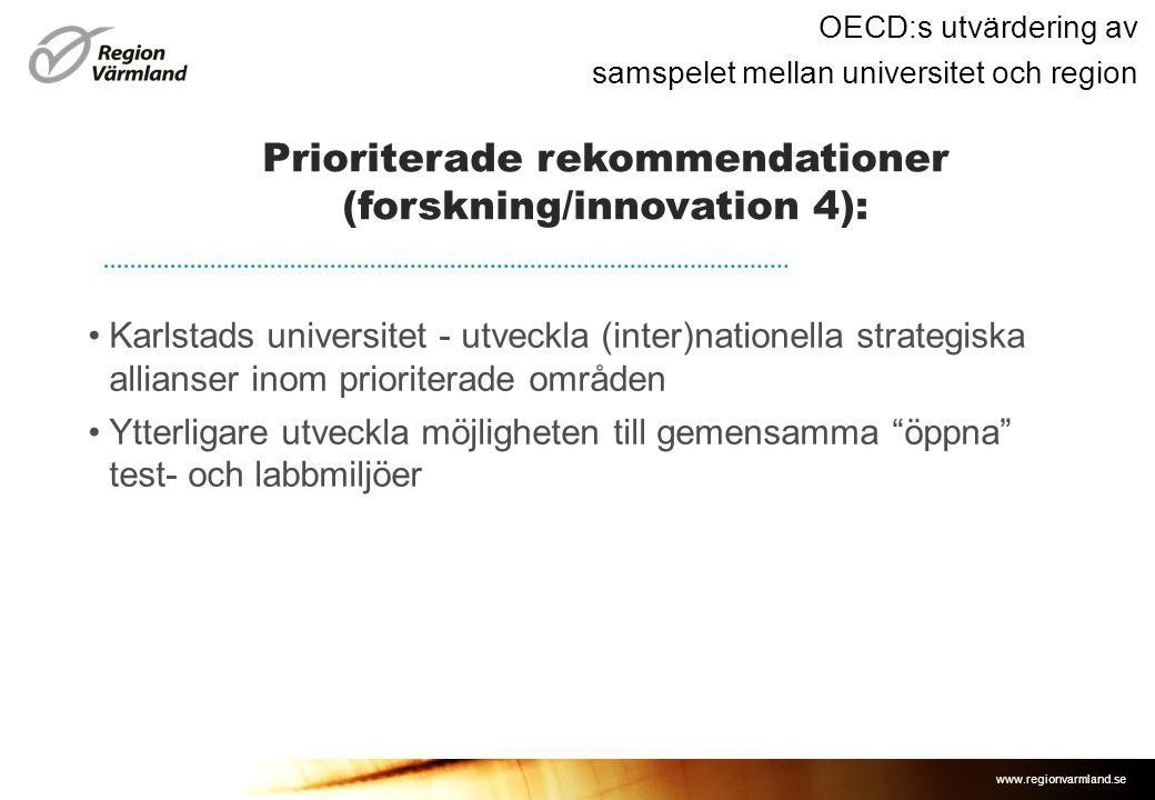 Prioriterade rekommendationer (forskning/innovation 4):