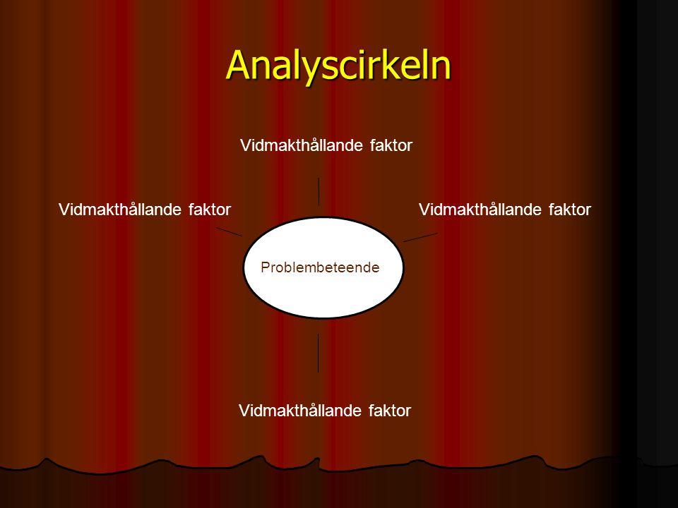 Analyscirkeln Vidmakthållande faktor
