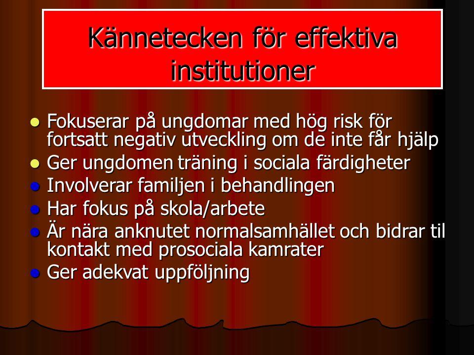 Kännetecken för effektiva institutioner