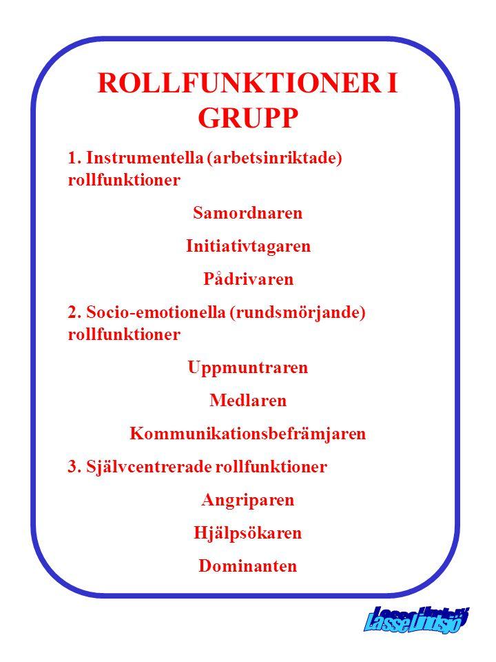 ROLLFUNKTIONER I GRUPP Kommunikationsbefrämjaren