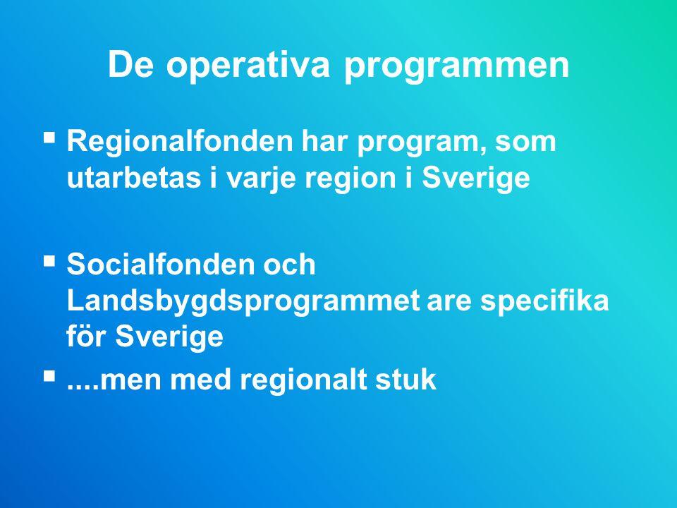 De operativa programmen