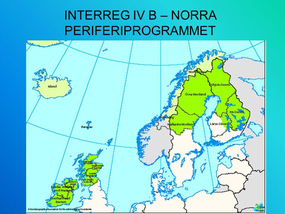 INTERREG IV B – NORRA PERIFERIPROGRAMMET