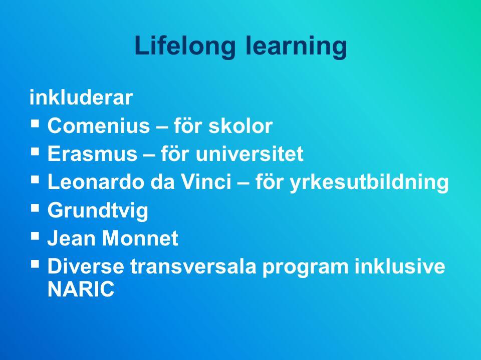 Lifelong learning inkluderar Comenius – för skolor