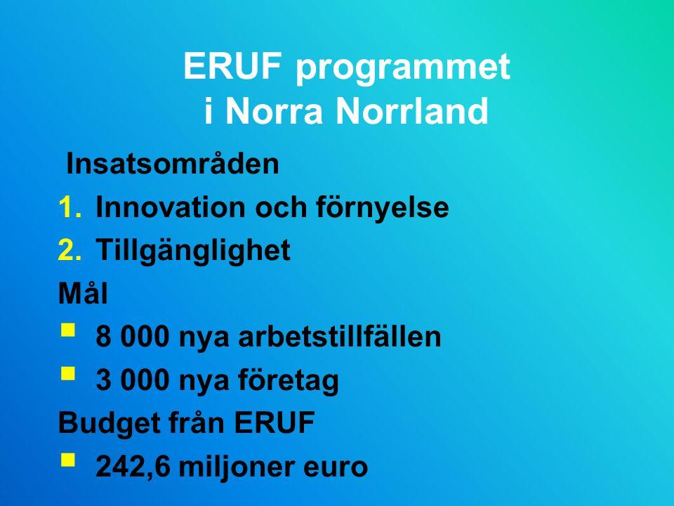 ERUF programmet i Norra Norrland