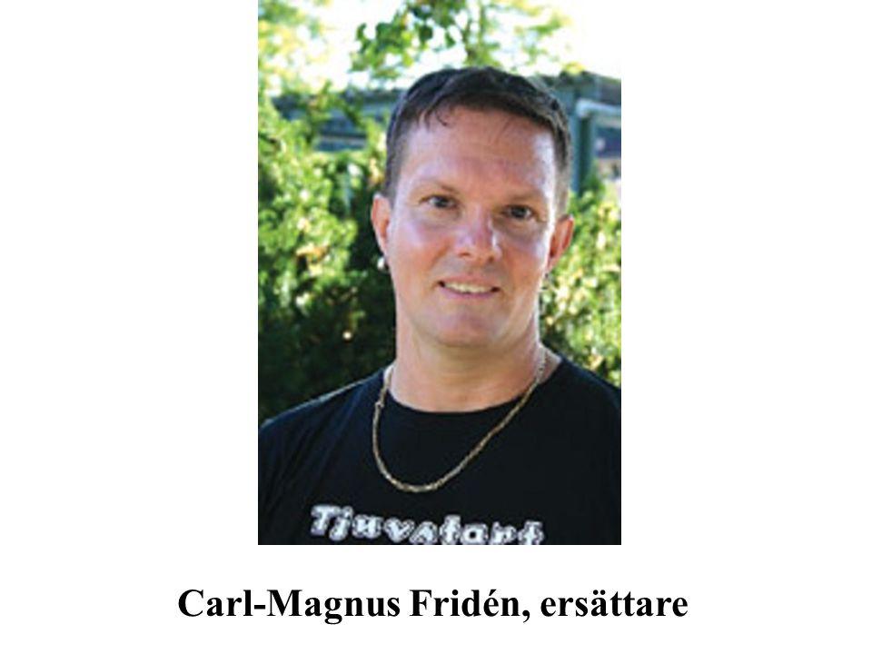 Carl-Magnus Fridén, ersättare
