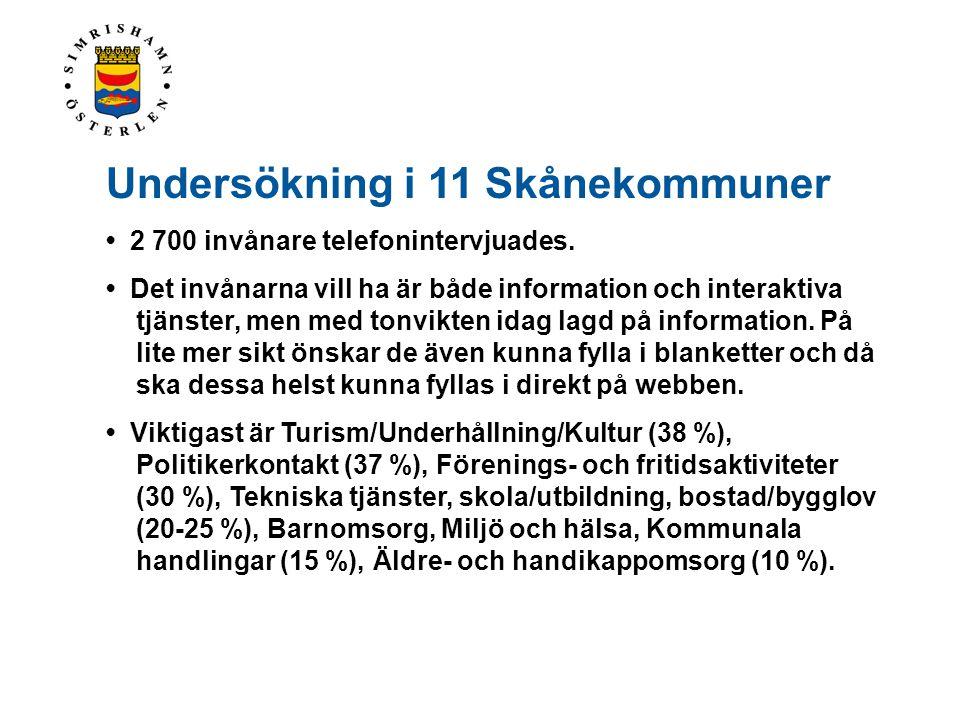 Undersökning i 11 Skånekommuner