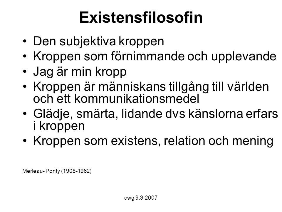 Existensfilosofin Den subjektiva kroppen