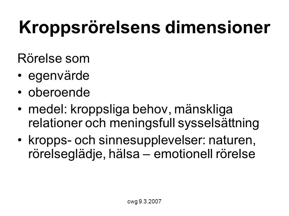 Kroppsrörelsens dimensioner