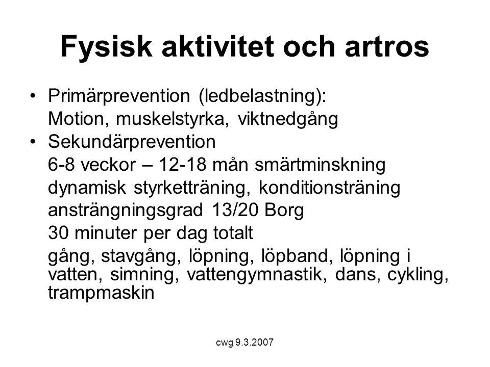 Fysisk aktivitet och artros