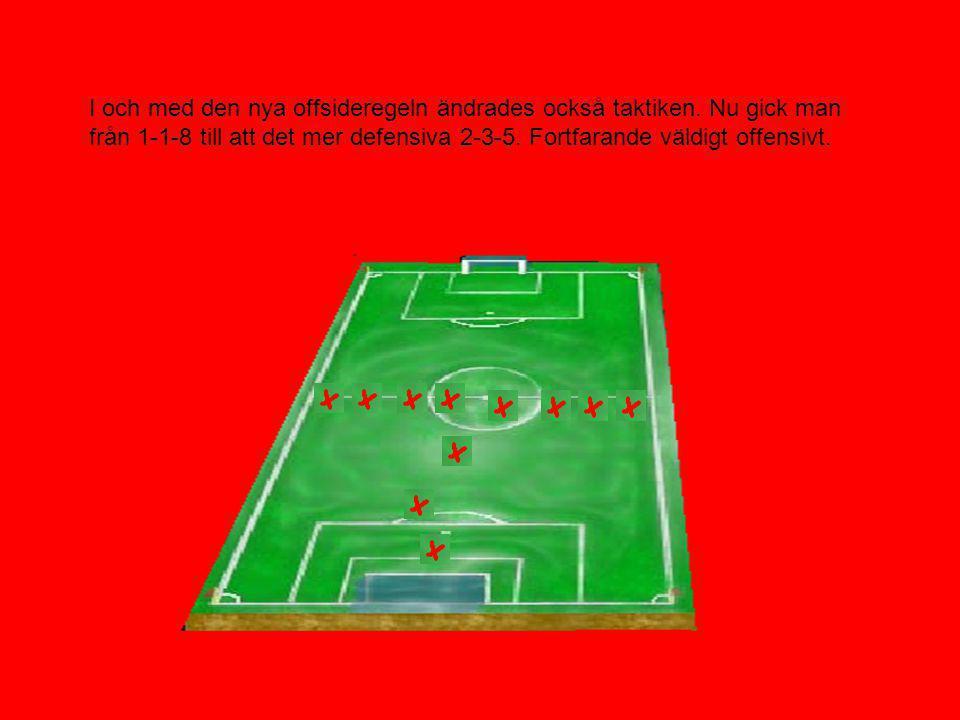 I och med den nya offsideregeln ändrades också taktiken