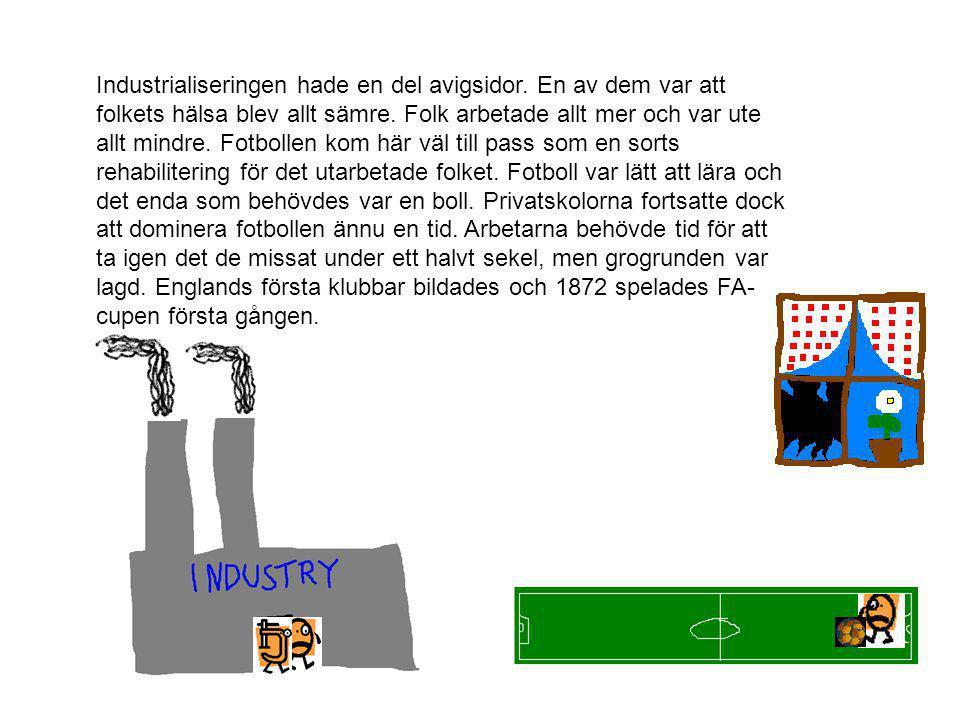 Industrialiseringen hade en del avigsidor
