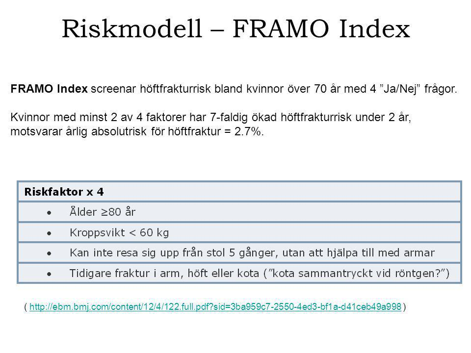 Riskmodell – FRAMO Index