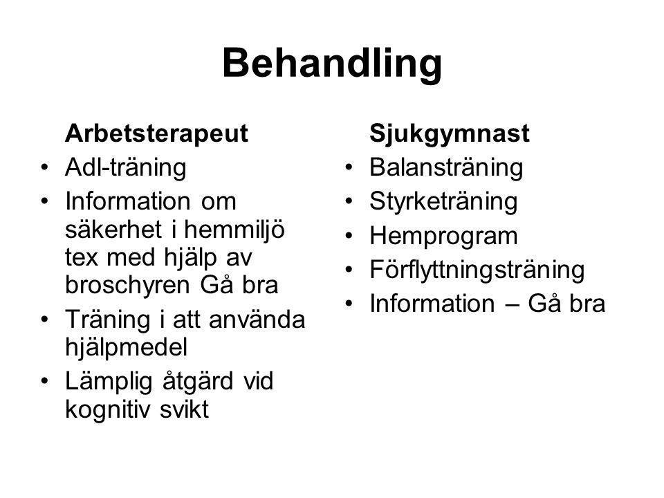 Behandling Arbetsterapeut Adl-träning