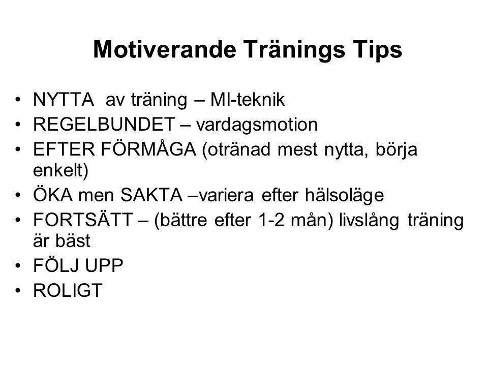 Motiverande Tränings Tips