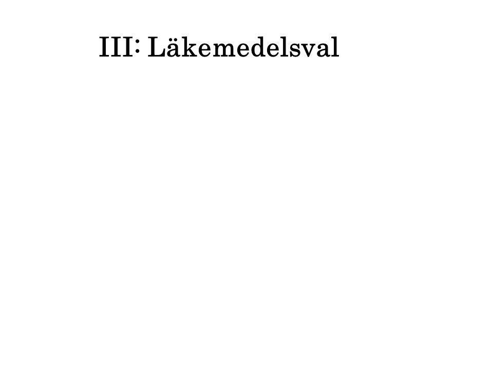 III: Läkemedelsval