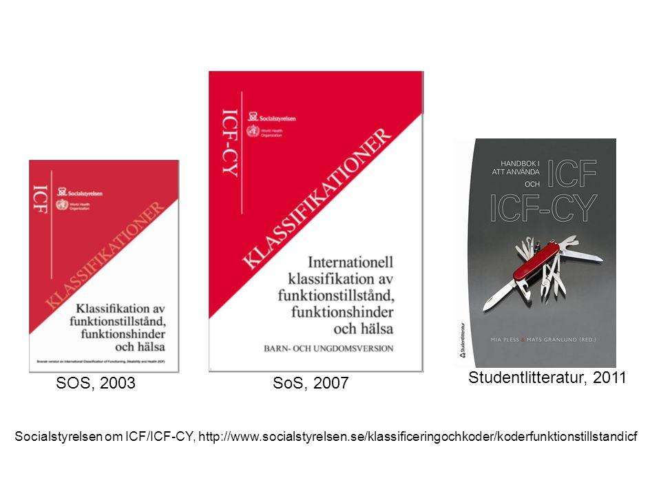 Studentlitteratur, 2011 SOS, 2003 SoS, 2007