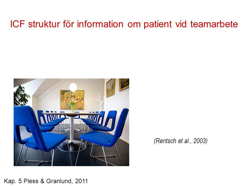 ICF struktur för information om patient vid teamarbete