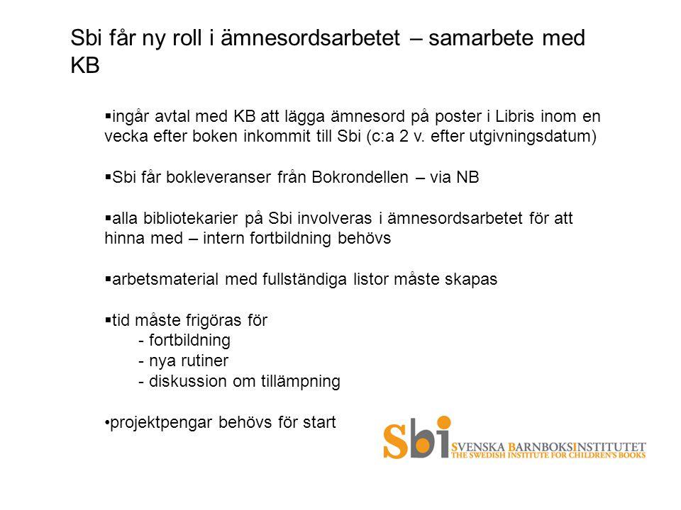 Sbi får ny roll i ämnesordsarbetet – samarbete med KB