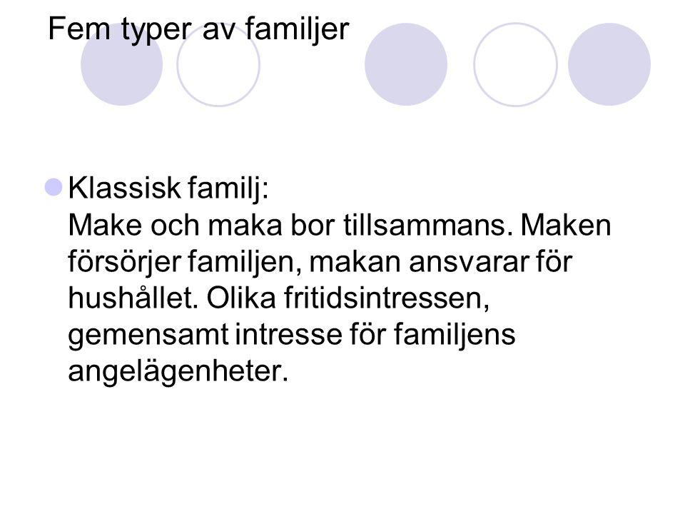 Fem typer av familjer