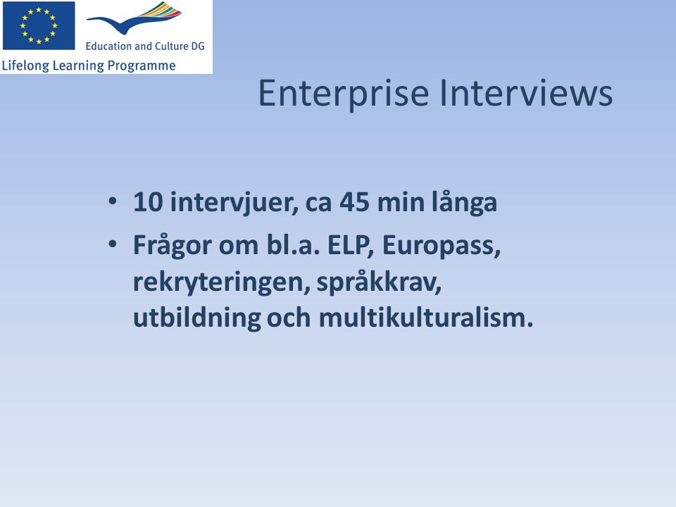 Enterprise Interviews