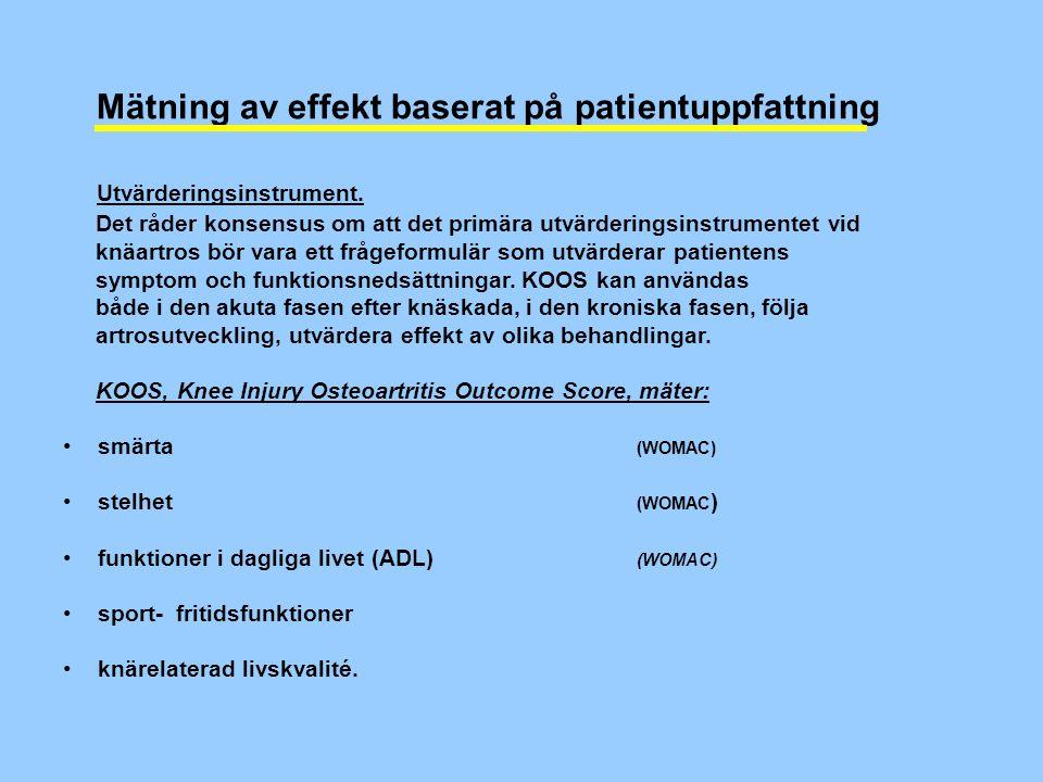 Mätning av effekt baserat på patientuppfattning