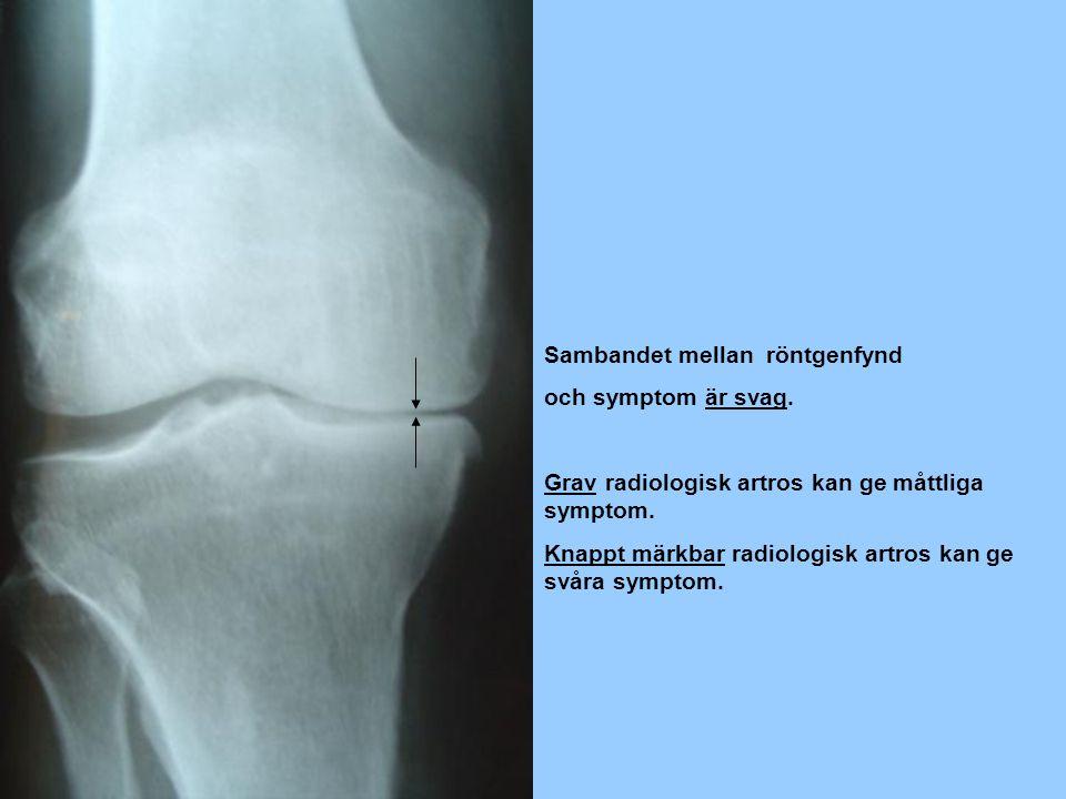 Sambandet mellan röntgenfynd