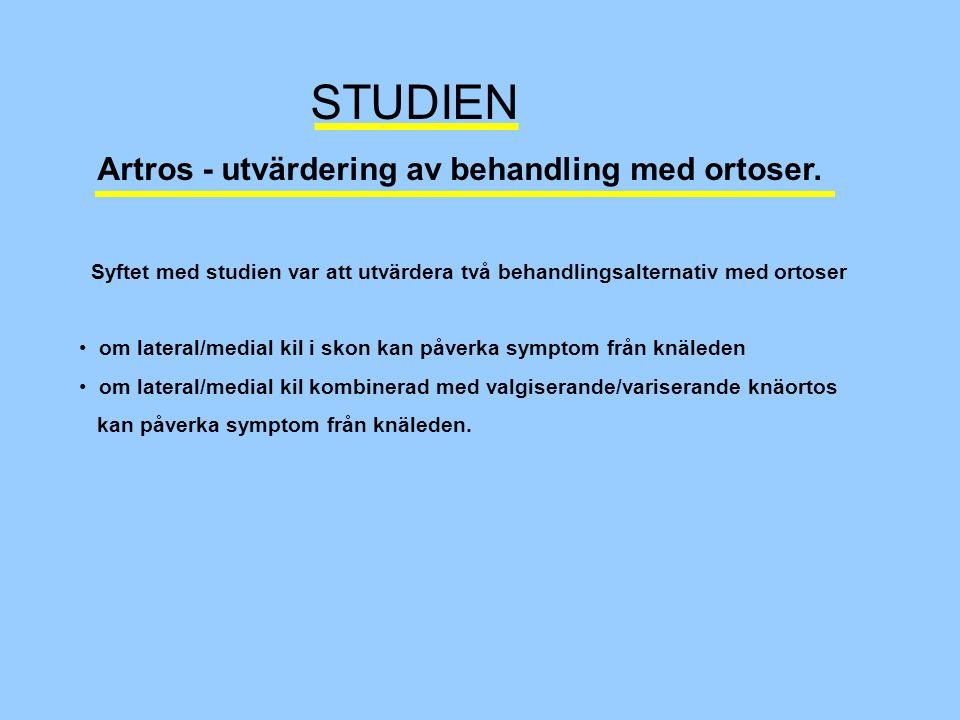 Artros - utvärdering av behandling med ortoser.